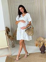 Женское платье для беременных WOW MOM White L (1_2022)