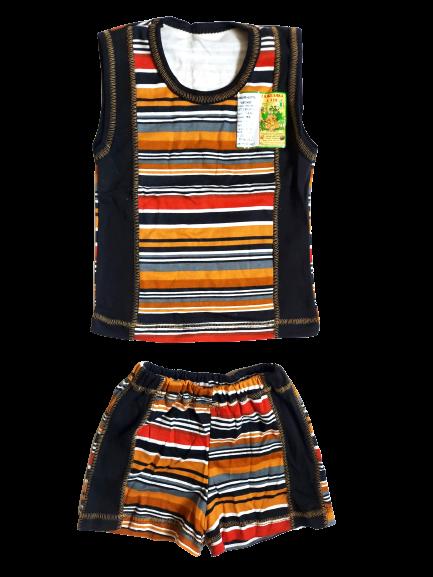 """Костюмы детские футболка безрукавка шорты """"Афганка"""" для мальчика р.52,56,60. От 3шт по 36грн"""