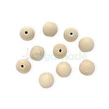Дерев'яні намистини 20 мм, бук, 1 шт