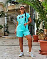 Літній спортивний костюм з шортами і вільною футболкою, фото 1