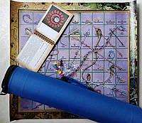Игра самопознания Лила. Поле-холст 54х50 см.+ карты 79шт.+Тубус 50х11 см.