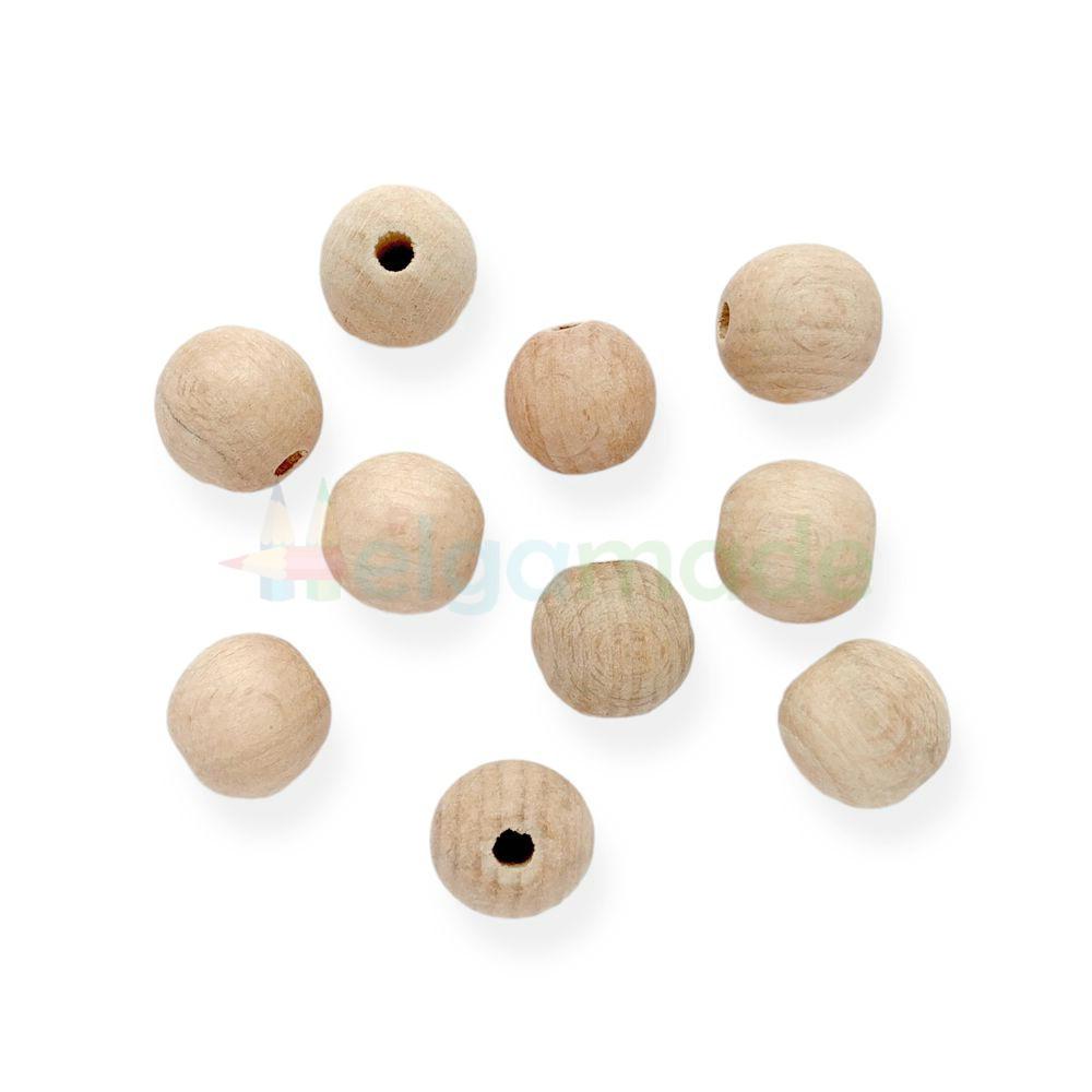 Бусины деревянные 20 мм, яблоня, 1 шт
