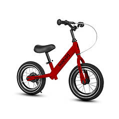 Дитячий беговел Baishs 002 Red двоколісний велосипед без педалей з ручним гальмом 29 см