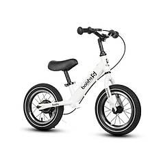 Дитячий беговел Baishs 002 White двоколісний велосипед без педалей з ручним гальмом 29 см