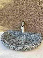 Раковина накладна з натурального каменю ручної роботи, умивальник