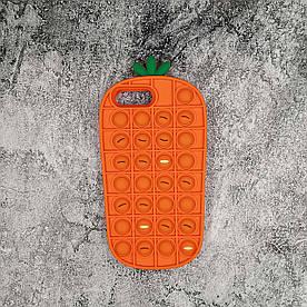 Чохол антистрес Pop It для iPhone 6 Plus силіконовий, Морквина