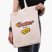 Эко сумка шоппер бежевая Butter БТС (BTS) (9227-3257)  41*35 см