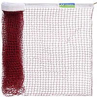 Сетка для бадминтона C-188 YONEX (нейлон, р-р 6x0,76м, ячейка р-р 2х2см, красный)