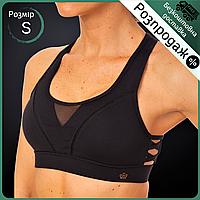 Распродажа! Топ для фитнеса и йоги женский короткий V&S Для спорта тренировок Лайкра Черный (WX021) S