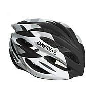 Шлем велосипедный ONRIDE Grip L 58-61 Белый с черным