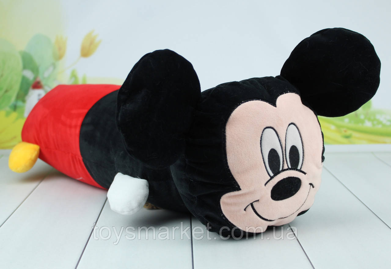 Детская подушка обнимашка Микки Маус, Минни Маус, 51 см.