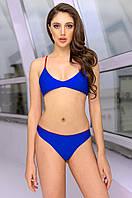 Жіночий купальник роздільний синій