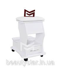 Тележка для педикюра с ящиком пуф-подставка для ног с полкой М217