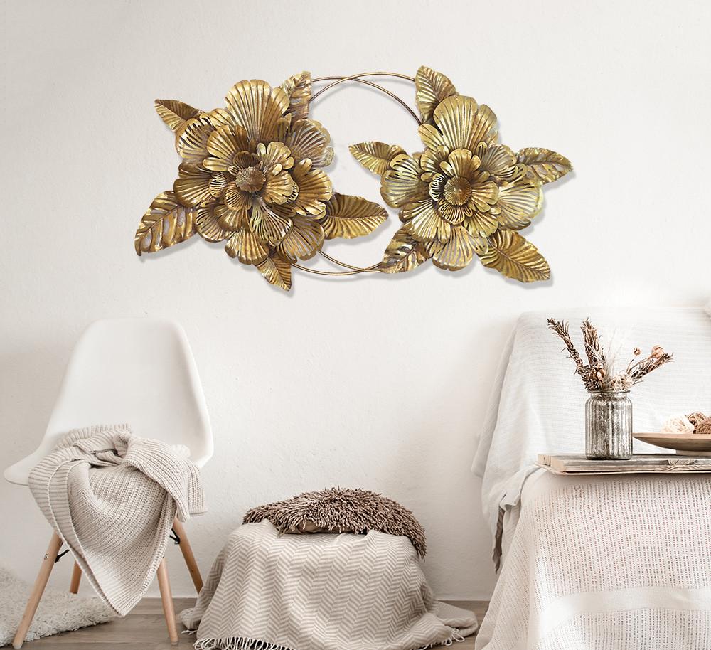 """Настінний декор """"Пара квіток"""" з металу Гранд Презент 81421"""