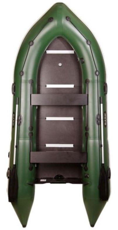 Човен надувний кільова чотиримісна Барк 360 з настилом, кілем і пересувними сидіннями Bark BN-360S