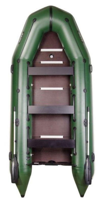 Човен надувний кільова шестимісна Барк 420 із суцільним фанерним настилом днища і пересувними сидіннями Bark