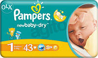 Памперс Pampers active baby 1 (2-5кг) - 43шт