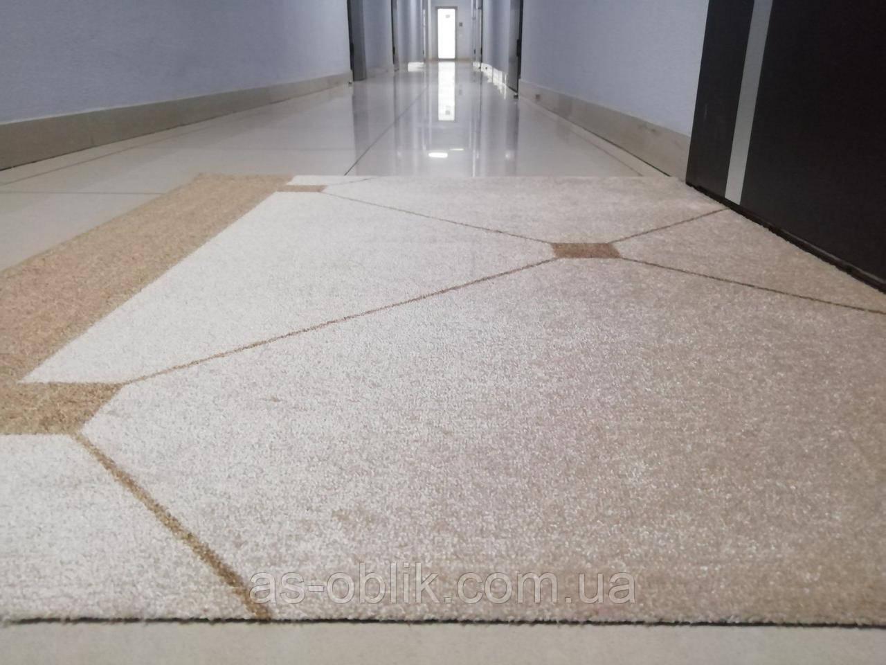 Влагопоглощающий коврик бежевый 1110х910 мм