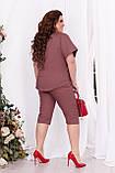 Женский льняной костюм  Модель 260, фото 2