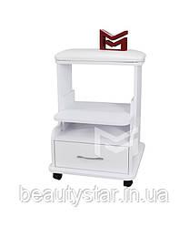 Тележка для педикюра передвижная педикюрная этажерка пуф-подставка для инструментов мастера педикюра М-218