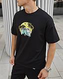 Футболка бавовняна чорна Бус, фото 2