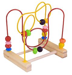 """Деревянный Пальчиковый Лабиринт """"Fun Game"""" для самых маленьких"""