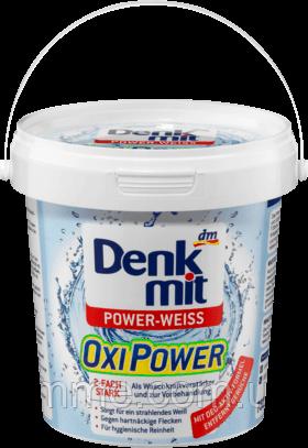 Плямовивідник з активним киснем для білих речей Denkmit Oxi Power Power-weiss 750 г.