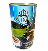 Повноцінний - вологий корм для дорослих собак з печінкою King with liver 1240 г