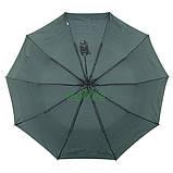 Зонт жіночий 10 спиць напівавтомат Calm Rain в смужку з туфельками Темно-зелений купол 102 см (02201), фото 3
