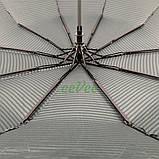 Зонт жіночий 10 спиць напівавтомат Calm Rain в смужку з туфельками Темно-зелений купол 102 см (02201), фото 4