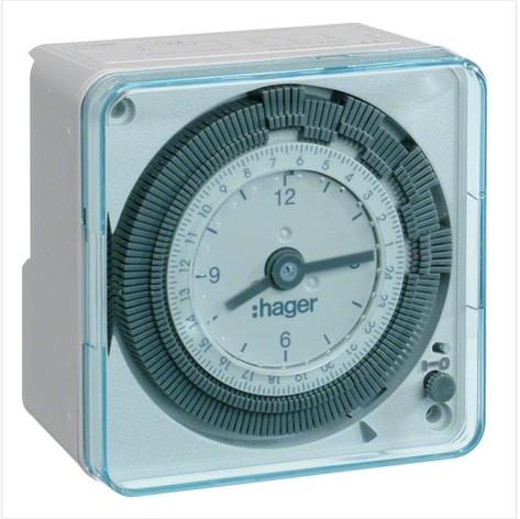 Таймер аналоговий, тижневий, 16А, 1 перемикаючий контакт, без резерву ходу EH770, фото 2
