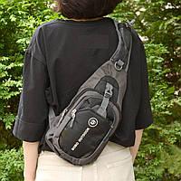 Рюкзак через плечо (СР-3004) Черный