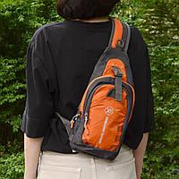 Рюкзак через плечо (СР-3004) Оранжевый