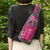 Рюкзак через плечо (СР-3004) Розовый