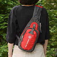 Рюкзак через плечо (СР-3004) Красный
