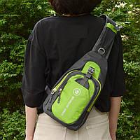 Рюкзак через плечо (СР-3004) Салатовый