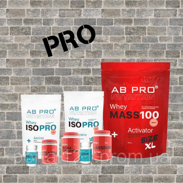 Комплект Набор мышечной массы PRO (протеин, гейнер, аминокислоты, хондропротектор, креатин)