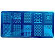 Диск - пластина для стемпинга металевий прямокутний, маленький (12 см на 6 см) / Бренди, фото 5