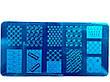 Диск - пластина для стемпинга металевий прямокутний, маленький (12 см на 6 см) / Бренди, фото 6