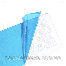 Диск - пластина для стемпинга металевий прямокутний, маленький (12 см на 6 см) / Бренди, фото 3
