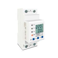 Реле контролю напруги і струму з ЖК, 220В, 63А, 2DIN, DDS238-VAP
