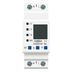Реле контролю напруги і струму з ЖК, 220В, 80А, 2DIN, DDS238-VAP