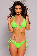 Жіночий купальник роздільний зелений оливковий, фото 1