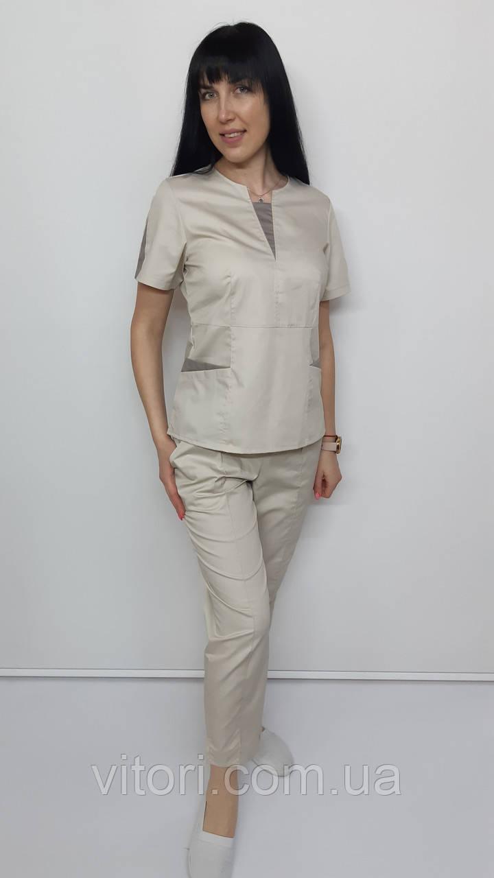 Штани жіночі стрейч коттон укорочені сім восьмих довжина
