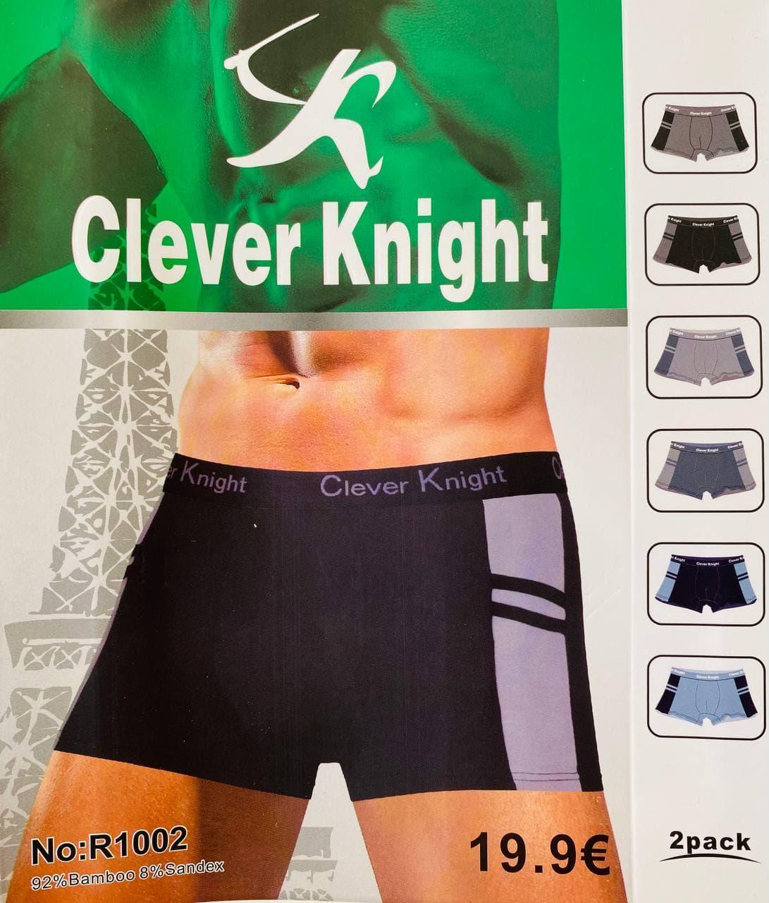 Трусы мужские боксёры хлопок + бамбук Clever Knight размер XL-4XL (46-52)