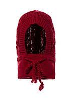 Практичная теплая детская вязанная шапочка под шею.