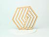 Шестикутні підставки під чашку з фанери з оригінальним дизайном, фото 2