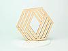 Шестикутні підставки під чашку з фанери з оригінальним дизайном, фото 7
