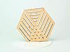 Шестикутні підставки під чашку з фанери з оригінальним дизайном, фото 6