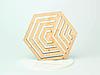 Шестикутні підставки під чашку з фанери з оригінальним дизайном, фото 10